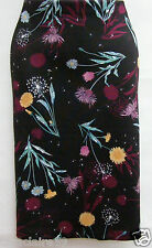 MARKS & SPENCER PER UNA BLACK/MULTI FLORAL STRETCH PENCIL SKIRT RRP £35 8-22