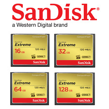 SanDisk 16GB 32GB 64GB 128GB Extreme Compact Flash 120MB/s CF Camera Memory Card