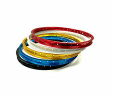 """OLD SCHOOL BMX ARAYA TYPE 7X RIM 24"""" VARIOUS COLOURS SOLD AS SINGLES AND PAIRS"""