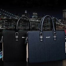 Men's Waterproof Leather Business Briefcase Attache Tote Handbag Messenger Bag