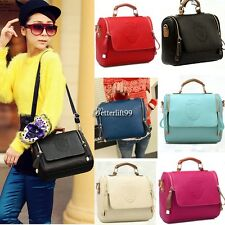 Women Leather Handbag Shoulder Bag Tote Messenger Satchel Purse Crossbody BF9