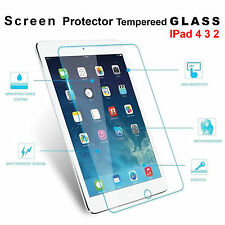 Tempered Glass Scratch Resist Film Guard Screen Protector For Apple iPad 4 3 2