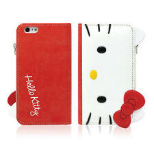 Hello Kitty Galaxy Note 5,4,3 Case Wallet Cover Clutch Coin Purse Mirror 3Colors
