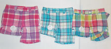 Cherokee Girls Plaid Shorts Various Colors to Choose Sizes 4-5, 6-6X,  NWT