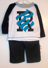 Rocawear Infant Boys 2pc Outfit Long Sleeve Shirt Jeans Size 12M NWT