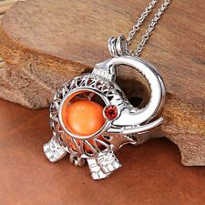 Elephant Locket Sounds Bell Locket Pendant Pregnant Chime Necklace Women Jewelry