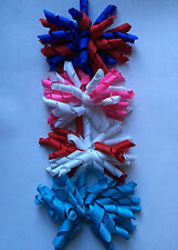 "Handmade 3.5"" Korker Spring/Easter/Party Ponytail Bow Hair Clip Elastic Bobble"