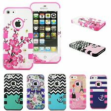 For Apple iPhone 5 5S Shockproof PC Dirt Dust Proof Hard Matte Cover Case Chic