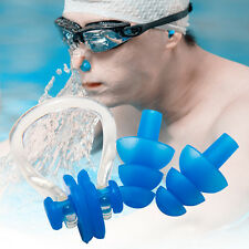 1 set Waterproof Nose Clip & Earplugs Silicone Soft Ear Plug for Swimming