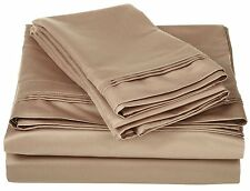 Comfort bedding 1000 TC 100% Egyptian Cotton 6 PC's Sheet Set Taupe Solid
