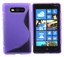 TPU Gel Case for Nokia Lumia 820 - Various colours and designs