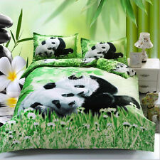 Quilt/Duvet Cover Bedding Set King Queen Double Size Bed 3PCS New Lovely Panda