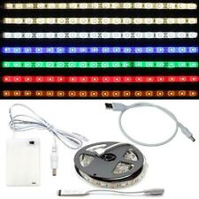 LED RGB Strip 5V DC Plug + USB Cable + Batterybox for Notebooks Computer TV PC