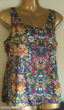 PRIMARK CHIFFON STYLE VINTAGE FLORAL PRINT SILKY TOUCH BLOUSE TOP VEST TOP