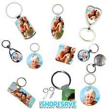 Personalised Photo Keyring, Metal, MDF or Fiberglass Plastic or Replacement Tabs