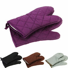 Thick Double Kitchen Baking Cook Insulated Padded Oven Glove Mitt A1 100% Cotton