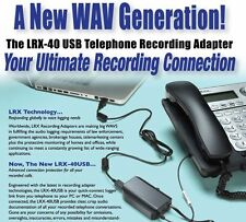 USB telephone record a call interface PC or MAC compatible LRX 40 USBsoftware op