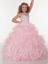 Flower Girl Dresses for Wedding Bridesmaids Prom Ball Pageant Party Custom Pink