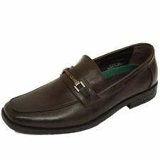 MENS BROWN SLIP-ON WORK WEDDING SMART CASUAL MOCCASIN LOAFERS SHOES SIZE 7-12