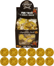 Childrens Kids Boys Pirate Plastic Gold Treasure Coins Party Loot Bag Fillers UK