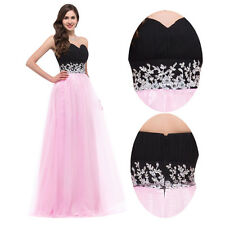New Pink Long Evening Gowns Pageant  Formal Party Cocktail Prom Bridesmaid Dress