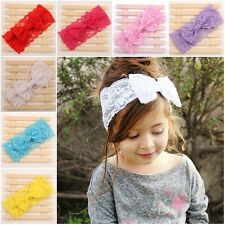 Baby Girl Toddler Lace Bowknot Headband Hair Band Headwear Accessories