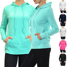 Women Casual Sports Workout Thin Cotton Pullover Hoodie Sweatshirt Sweater Top