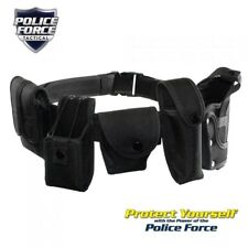 Police Force Brand Adjustable & Durable Tactical Duty Belt with Holsters, Cases