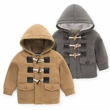 Baby Kid Boy Smart Winter Warm Hood Snowsuit Toggle Coat Jacket Clothes Outfits