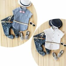 Baby Kids Girl Boy Casual Party T-shirt+Jeans Pant Outfit Clothes Set Age 2-7