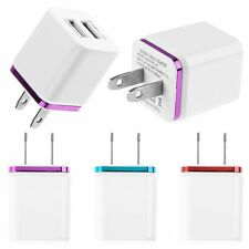 3.1A Dual USB Port Wall Home Travel AC Charger Adapter For Samsung HTC US Plug