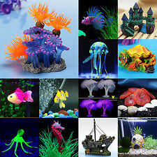 Aquarium Fish Tank Cute Artificial Coral Water Plants Ornament Landscaping Decor