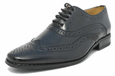 Mens Black Leather Lined Lace Up Smart Brogues Shoes Size 6 7 8 9 10 11 12