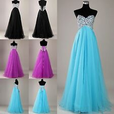 PLUS SIZE Strapless Formal Gown Ball Party Evening Homecoming Long Prom Dresses