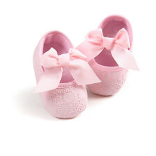 Baby Girl Kid Toddler Princess Bowknot Newborn Prewalker Antiskid Crib Shoes New