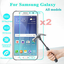 2PCS Tempered Glass Screen Protector Film Protective Shield For Samsung Galaxy