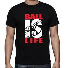 NEW MEN'S PRINTED BALL IS LIFE FUNNY HIPSTER MMA STORTS GRAPHIC COTTON T-SHIRT