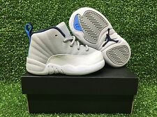 NEW AIR JORDAN 12 RETRO XII TD SNEAKER SHOE'S WOLF-GREY/BLUE TODDLER 850000-007