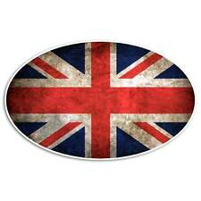 Union Jack Flag Sticker - Great Britain Grunge Decal Vintage Oval