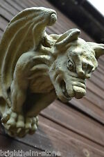 "GARGOYLE hanging WALL PLAQUE ""ghostbuster""GOTHIC ORNAMENT FROSTPROOF STONE 25cmH"
