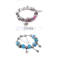 Fashion DIY European Beads Rhinestone Women Lady Bracelet Jewelry