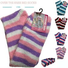 6 Pairs Ladies OVER THE KNEE BED SOCKS Fur Womens Soft Fluffy Comfy Winter Warm