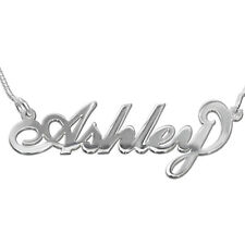 925 Sterling Silver Any Name Necklace, Carrie Style Personalized Necklace