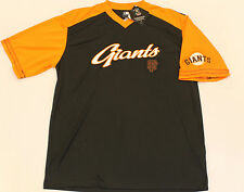 San Francisco Giants Buster Posey Embroidered Black/Orange Shirt By Majestic