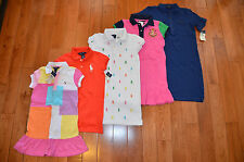 SALE~NWT RALPH LAUREN POLO Girls Shirt Dress Mesh Cotton ~Many colors & sizes~