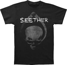 Seether Skull Clamp Men's Black T-Shirt SM, MD, LG, XL, XXL New