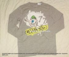 NWT 77 KIDS American Eagle boys size 12 gray Skateboard graphic t-shirt top new