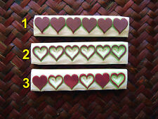 Heart Stamps. Valentine Stamp, Love Stamp, Hand Carved Rubber Stamp, Card Making