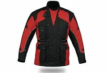 Red Avalanche Waterproof Armoured Vented &Thermal Motorcycle Motorbike Jacket