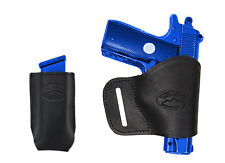 NEW Barsony Black Leather Yaqui Holster + Mag Pouch Sig, Walther 380 UltraComp